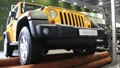Motor show. Yellow jeep wrangler Footage