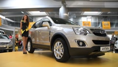 Stock Video Footage of Motor show. Opel Antara