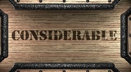 Considerable on wooden stamp Stock Footage