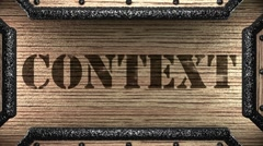 context on wooden stamp - stock footage