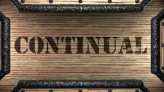 continual on wooden stamp - stock footage