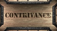 Contrivance on wooden stamp Stock Footage