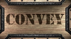 convey on wooden stamp - stock footage