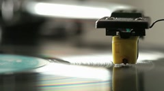 Turntable stylus - stock footage