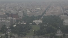 Stock Footage -  Aerial View of White house and Pennsylvania Ave. Stock Footage