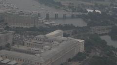 Arkistokuvanauhanpätkä - Aerial View of Potomic River ja Washington DC Arkistovideo