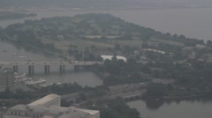 Stock Footage - Aerial View of Potomic River - Washington D.C. #2 Stock Footage