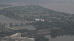 Arkistokuvanauhanpätkä - Aerial View of Potomic River - Washington DC # 2 Arkistovideo