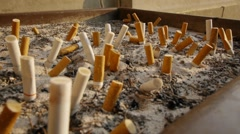 Ash Tray Stock Footage