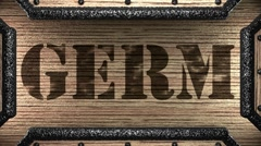 Stock Video Footage of germ on wooden stamp