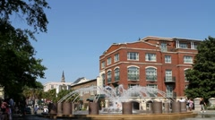 Charleston City Fountain Stock Footage