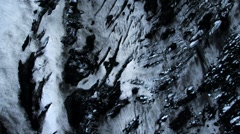 Aerial View of Ice Glacier with Volcanic Ash, Iceland - stock footage
