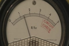Radioactivity Geiger Counter Radiation Dial v2 - stock footage
