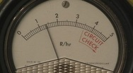 Stock Video Footage of Radioactivity Geiger Counter Radiation Dial v2