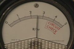 Radioactivity Geiger Counter Radiation Dial v1 - stock footage