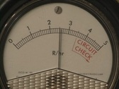 Stock Video Footage of Radioactivity Geiger Counter Radiation Dial v1