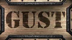 gust on wooden stamp - stock footage