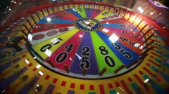 slot machine close-up with rotating bulbs - stock footage