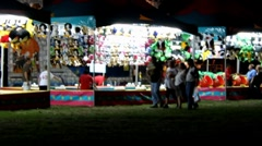 County Fair Midway Stock Footage