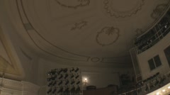 Stock Footage - Ford's Theatre - Pan from Ceiling Stock Footage