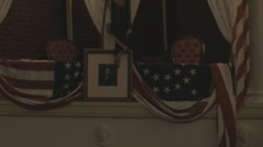 Stock Footage - Ford's Theatre - Presidential Box - Zoom to Stage Stock Footage