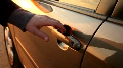 Car door Stock Footage