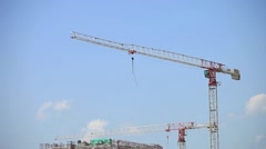 Crane in action (timelapse) - stock footage