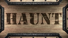 Stock Video Footage of haunt on wooden stamp