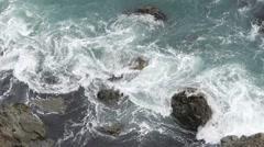Swirling Foamy Waves Stock Footage