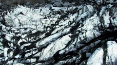 Aerial View of Volcanic Ash on Arctic Glacier  - stock footage