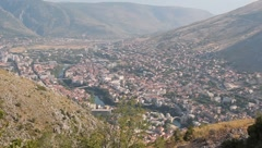 Stock Video Footage of landscape Mostar