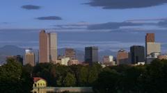 Denver Skyline Pan Time Lapse Stock Footage