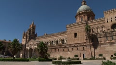 Palermo Cathedral, Palermo - stock footage