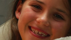 Little girl with big smile Stock Footage