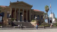 Teatro Massimo, Palermo Stock Footage