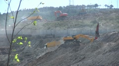 Construction zone Stock Footage