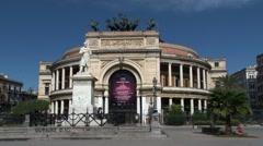 Palermo Politeama theatre - stock footage