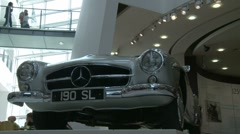 Mercedes Show room (slow motion) Stock Footage
