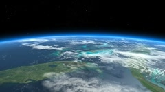Florida, Bahamas, Caribbean, Cuba. Earth From Space. Stock Footage