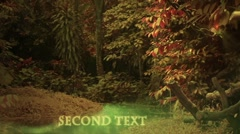 Enchanted forest loop sparkling title sequence Stock After Effects