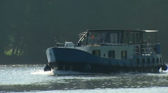 Leisure Boat in the morning light - stock footage