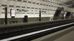 Stock Footage - D.C. Metro Rail - Wide Stock Footage