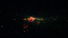 Star Field Fly Through 01 Stock Footage
