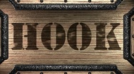 Hook on wooden stamp Stock Footage