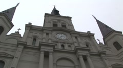 New Orleans St. Louis Cathedral in French Quarter Stock Footage