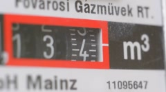 Gas meter spinning fast Stock Footage