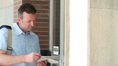 Postman at work;  Full HD Photo JPEG Stock Footage