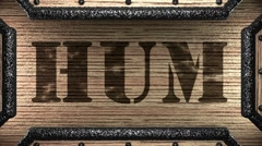 Stock Video Footage of hum on wooden stamp