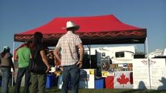 Timelapse Vendor Tent at Canadian festival Stock Footage