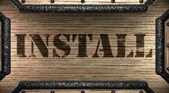 Install on wooden stamp Stock Footage